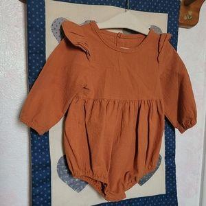 25% off bundles 3+ dark orange ruffled baby onesie